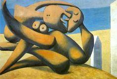 chiffres à l' `seaside` (le baiser - (Pablo Picasso)