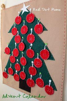 Image detail for -DIY Christmas Tree Advent Calendar