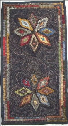 I love the Hand crafted Hooked rugs by Artisan, Marilyn Wilmore.  I am amazed at her talent. She draws her patterns, cuts and dyes her own wool. You can find these at the Pine Cone Gift Shoppe in Uniontown, Ohio