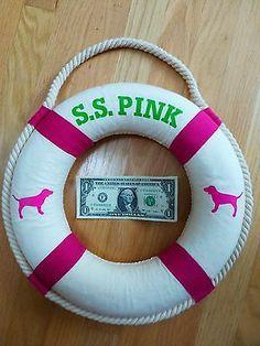 RARE Victoria's Secret s s Pink Large Life Preserver Ring Store Display Dog   eBay