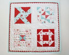 fwq blocks ~mini quilt using simple life fabric by tashanoel...riley blake