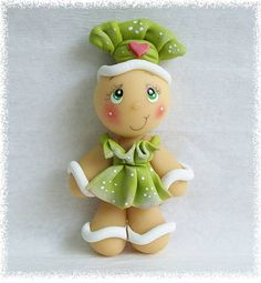 Ginger Cozinheira Polymer Clay Ornaments, Polymer Clay Crafts, Christmas Toys, Christmas Projects, Clay Fairy House, Polymer Clay Christmas, Clay Fairies, Disney Figurines, Ceramic Bisque