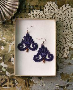 lace earrings -LIDA-