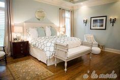Mint and cream bedroom