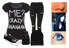 """""""emo"""" by extra14wave ❤ liked on Polyvore"""