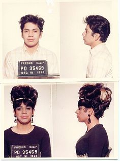 1968 mug shot of a drag queen