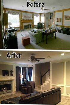 We remodeled our 80's home we just purchased 1 month ago. Here are some before and after photos. You can visit my blog to see the materials used for this project.