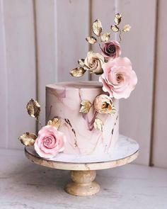 Simple Romantic Wedding Cakes simple romantic wedding cakes pink wedding cake w… – Beautiful Wedding Cake Designs Special Birthday Cakes, Beautiful Birthday Cakes, Beautiful Wedding Cakes, Gorgeous Cakes, Amazing Cakes, Elegant Birthday Cakes, 15 Birthday Cakes, Birthday Cake With Roses, Birthday Cake For Women Elegant