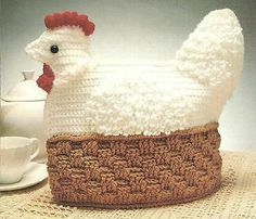 Crochet Pattern Hen Tea Cozy/Cosy Perfect Christmas by carolrosa Tea Cosy Knitting Pattern, Tea Cosy Pattern, Knitting Patterns Free, Crochet Patterns, Scarf Patterns, Knitting Tutorials, Free Knitting, Knitted Tea Cosies, Crochet Chicken