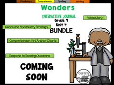 **PLEASE NOTE**THIS IS A GROWING BUNDLE. RELEASE DATES ARE LISTED UNDER THE DESCRIPTION.This 4th grade, Unit 4 (Weeks 1-5) highly INTERACTIVE journal BUNDLE contains  pages of student activities aligned to the McGraw Hill Wonders series.