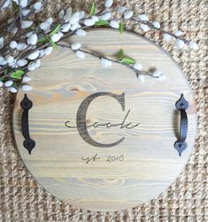 Wood tray, serving tray, breakfast tray, wooden tray, monogrammed gifts, wedding gift, bridal gift, housewarming gift