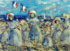Walter John Beauvais (1942-1988) - Mid 20th Century Oil, Beach Scene, France - New Products