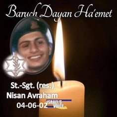 Apr 6, 2002 – St.-Sgt. (res.) Nisan Avraham26 of Lod was killed and five other soldiers were lightly injured when two Palestinian gunmen opened fire and threw grenades at the entrance to Rafiah Yam in the Gaza Strip. The Palestinians, members of the Islamic Jihad, were killed. Nissan, 26, completed his compulsory service in Golani [&hellip