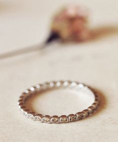 ANNA SHEFFIELD | SMALL PAVE BAND, STERLING SILVER & CHAMPAGNE DIAMONDS