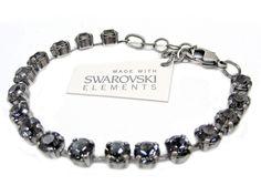 Armband mit Swarovski Elements -Uni- Silver Night Günstig