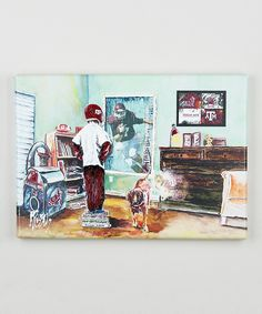 Loving this Texas A&M 'To Dream Of' Wrapped Canvas on #zulily! #zulilyfinds