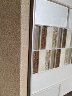 Chrome Schluter edge to finish tile instead of bullnose