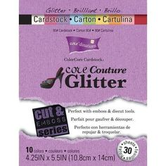 Darice Core dinations Cut Emboss Cardstock Pad Core Couture Glitter 4 25 x 5 50 80 lb Paper Weight 30 Pack