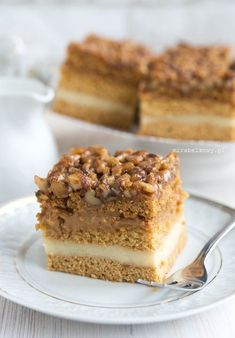 Mirabelkowy blog: Snikers / Snickers Cake Recipes, Snack Recipes, Snacks, Delicious Desserts, Yummy Food, Sweet Bar, Breakfast Menu, Dessert For Dinner, Yummy Cakes