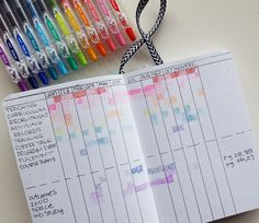 A Gantt chart layout can help you visualize your job responsibilities over the entire year - or perhaps your family schedule too // www.prettyprintsandpaper.com