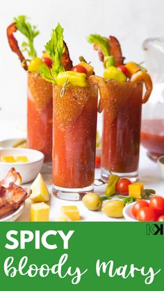 Bloody Mary Recipe Without Horseradish, Bloody Mary Recipe With Pickle Juice, Best Bloody Mary Recipe Spicy, Homemade Bloody Mary Mix, Brunch Drinks, Bar Drinks, Cocktail Drinks, Yummy Drinks, Cocktail Recipes