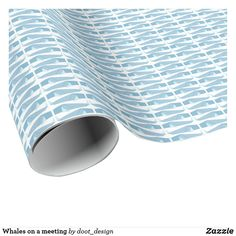 Shop Whales on a meeting wrapping paper created by doot_design.