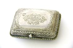 EXCEPTIONAL ANTIQUE RUSSIAN SOLID SILVER 84 1888 ENGRAVED SNUFF TOBACCO CASE BOX