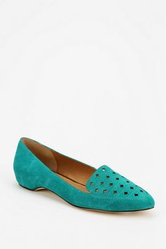 Turquoise loafers!