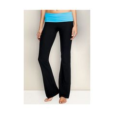 TALL Essential Yoga Pant ($20) ❤ liked on Polyvore featuring activewear, activewear pants, turquoise, tall activewear and alloy apparel