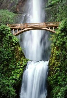 Multnomah Falls - Portland, Oregon - Located in the Columbia River Gorge, this is the tallest waterfall in Oregon, and one of the most breathtaking places I've ever been!