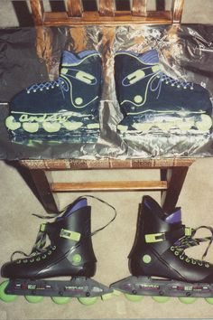 10th in Birthday Cake Creations series: Probably my most amazing cake(s) of all time! Actual life size replica of his new rollerblades! (double digits = double cakes. get it?)
