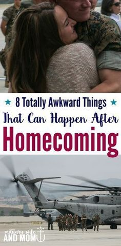 Totally awkward things that happen after a military homecoming. Are you a military wife patiently awaiting your military member homecoming. Read these military life truths to better understand what to expect when your spouse comes home from deployment.