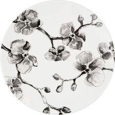 For more formal occasions, use the MADHOUSE by Michael Aram Black Orchid melamine dinner plate. A black orchid design decorates the 10.5� white plate. This melamine plate is durable, break resistant and dishwasher safe. Not safe for use in microwave. This MADHOUSE product is manufactured with a process that may create small variations between pieces. Any differences are normal and expected. Please wash before using.
