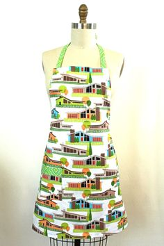 Get your vintage groove on in this mid century modern architectural delight. A myriad of hipster homes in a trendy neighborhood design. This versatile chef style apron is the perfect addition to any k