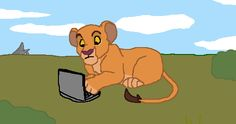 Kiara found a laptop (Lion King) by Mikasho.deviantart.com on @DeviantArt