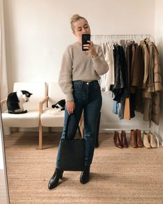 What I Wore This Week: December 9th - 15th - JESS WITH LESS Eco Clothing, Piece Of Clothing, What I Wore, What To Wear, Jesse Kamm Sailor Pant, Wednesday Outfit, Fall Outfits, Fashion Outfits, Neutral Outfit
