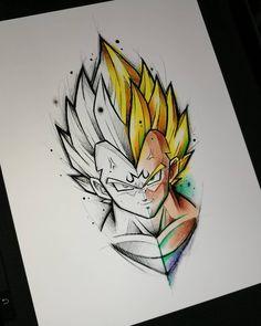 No photo description available. Majin Tattoo, Z Tattoo, Dragon Z, Dragon Ball Gt, Ball Drawing, Desenho Tattoo, Anime Tattoos, Art Sketchbook, Art Drawings