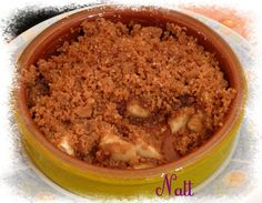 Crumble pommes spéculoos