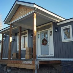 Midnight Surf Gentek Siding with Fusion Stone