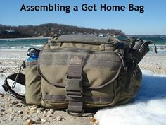 Assembling a Get Home Bag. A few common sense ideas on what goes into a simple get home bag.