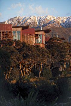 Resort Escapes Worth the Splurge | Hapuku Lodge Tree Houses Kaikoura New Zealand | Most Exotic Vacation Destinations