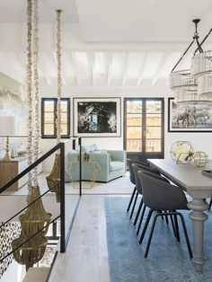 open living space with HAY chairs, Gervasoni table - designed by Christine Leja
