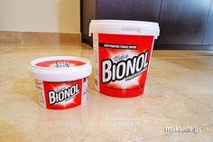 Το Bionol είναι ένα υπερσυμπυκνωμένο απορρυπαντικό σε κρέμα και σίγουρα θα το λατρέψεις. Μπορείς να το χρησιμοποιήσεις πραγματικά παντού. Coffee Cans, Clean House, Cleaning Hacks, Diy And Crafts, Canning, Deco, How To Make, Advice, Life