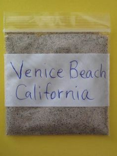 Venice Beach Venice California Sand Sample   eBay ~ A very fun beach to visit.