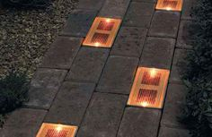 Sun Bricks, the solar-powered ground lighting system that guides people to your door with an inviting glow. Sun Bricks, the solar-powered ground lighting system that guides people to your door with an inviting glow. Dream Garden, Home And Garden, Outdoor Lighting, Outdoor Decor, Outside Living, Outdoor Projects, My Dream Home, Land Scape, Garden Inspiration