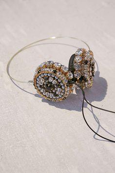 Slide View: 3: Skinnydip X Zara Martin Bling Headphones