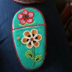 Athabascan beadwork by Madeline Krol 2015 scissor case