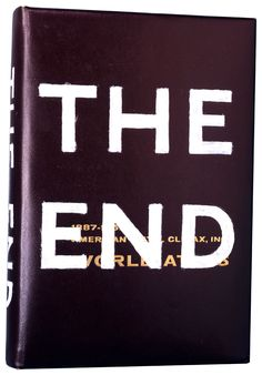ED RUSCHA  THE END, 1992  Oil on book cover  10 3/4 x 7 1/4 x 1 3/4 inches  (27.3 x 18.4 x 4.4 cm)