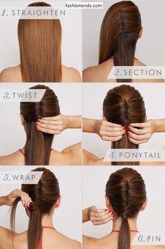 Sleek Vixen Hair We have an easy and amazing hairstyle for collage girls, school girls and for working women, it can be made easily and it just take few minutes and need only few hair pins, it is suitable for winter and summer season. How To Make must Try......