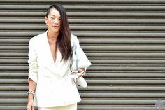 Tina Leung at New York Fashion Week S/S 2015